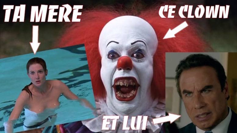 Quel est le point commun entre le clown de Ça et John Travolta ?